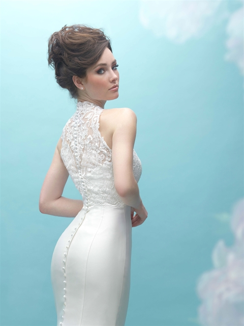 ALLURE BRIDALS 9458 Ivory Mikado Sheath Wedding Dress - Bridal Village