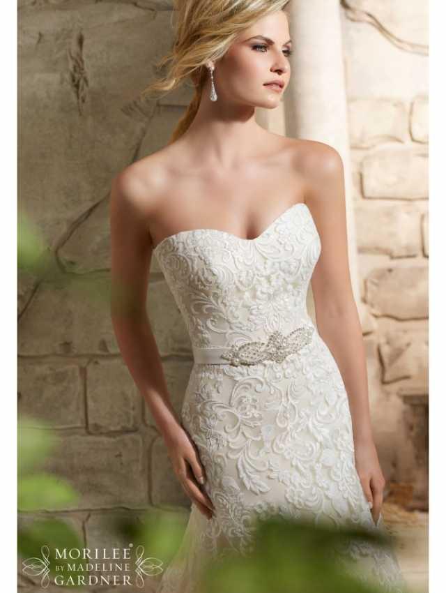 f34e8e80c7 MORI LEE 2781 Stunning Strapless Lace Wedding Dress - Bridal Village
