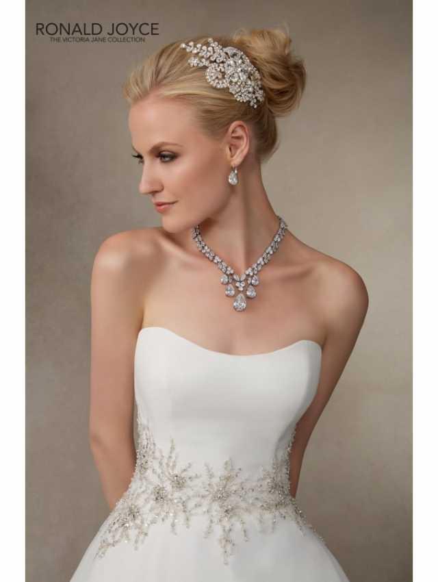 1d2996482c95 ... RONALD JOYCE Jessica 18011 Luxury Organza Strapless Classic Ballgown  Ivory ...